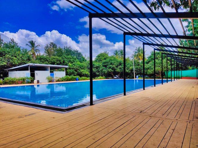 Swimming pool resort in Bangalore